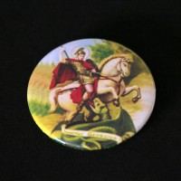 Acrylic Brooch with Photolithographic