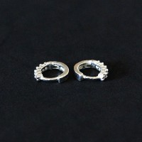 925 Silver Earrings with Zirconia Stones
