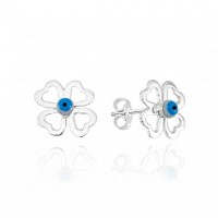 925 Silver Earring Clover Eye Mother of Pearl