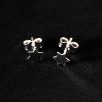925 Silver Earrings Small Star