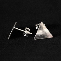 925 Silver Earring Triangle