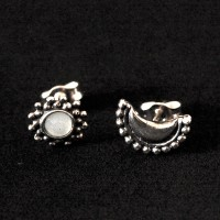 925 Silver Earrings With Resin