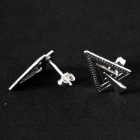 Earring 925 Silver Aged