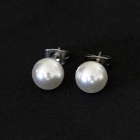 Stainless Steel Earring with Pearl