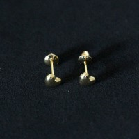 Gold Earring 18k 0750 Heart Tarracha Baby