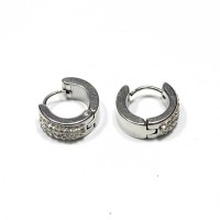 Stainless Steel Earring with Zirconia