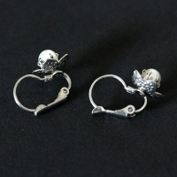 Surgical Steel Piercing Earring Flower with Pearl