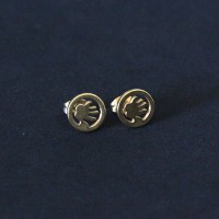 Stainless Steel Earring Gold Plated Hand