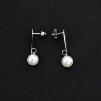 Surgical Steel Earrings Drops with Pearl