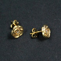 Semi Earring Jewelry Gold Plated Flower