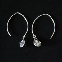 925 Silver Earring with Zirconia Stone