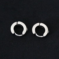 Stainless Steel Earring Click 4-Ring Zirconia Ring
