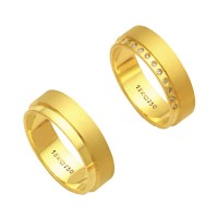 Alliance Gold 18k 750 Width 6.00mm Height 1.70mm / Alliance Anatomic 18k Gold 750 with 11 Brilliant 1.25 Points Width 6.00mm Height 1.70mm