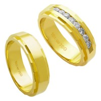 Alliance Gold 18k 750 Width 6.00mm Height 2.00mm / Alliance 18k Gold 750 with 15 brilliant 2.25 Points Width 6.00mm Height 2.00mm