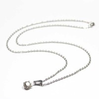Portuguese Stainless Steel Necklace Point of Light with Zirconia Stone