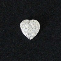 Heart Engraved with Zirconia Stones Secret Passionate 925 Silver for Capsule Moments of Life