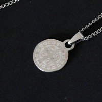 Steel Chain with Pendant Saint Benedict Medal