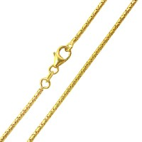 Yellow Gold Chain 18k Tail of Rat 45 cm / 0.16 mm