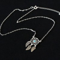 925 Silver Choker Aged Dream Filter Turquoise 40cm