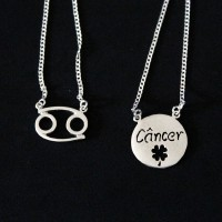 Silver Necklace 925 Scapular Cancer Sign 70cm