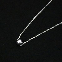 925 Silver Necklace with 6mm Ball