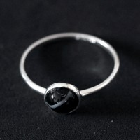 925 Silver Ring with Onix Stone