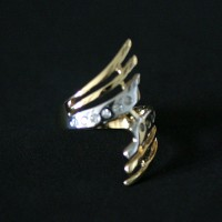 Ring Semi Jewelry Gold Plated