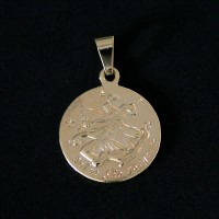 Semi pendant jewelry Gold Plated Save St. George