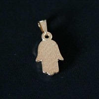 Semi pendant jewelry Gold Plated Charm Hamsa
