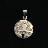 Pendant Semi Jewelry Gold Plated Libra Signs
