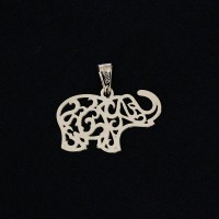 Pendant Semi Jewelry Gold Plated Elephant Dropped
