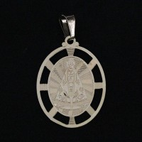 Pendant Semi Jewelry Gold Leaf Our Lady Aparecida
