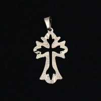 Pendant Semi Jewelry Gold Plated Cross Drawn