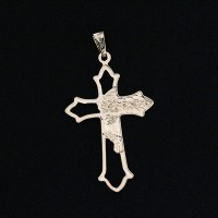 Pendant Semi Jewelry Gold Plated Cross Stuck With Face of Jesus Christ