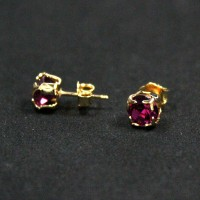 Gold Plated Zirconia Gemstone Semi-precious Earring