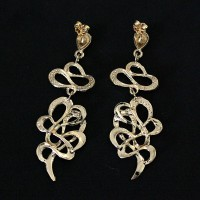 Earring Semi Jewelry Gold Plated