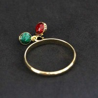 Gold Plated Semi-Gold Plated Falange Ring