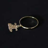 Ring Semi Jewelry Gold Plated Dog