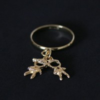 Ring Semi Jewelry Gold Plated 2 Children