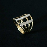 Ring Semi Jewelry Gold Plated with rhodium