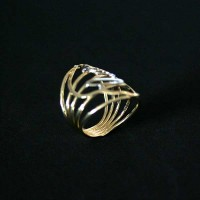 Ring Semi Jewelry Gold Plated with rhodium Our Lady