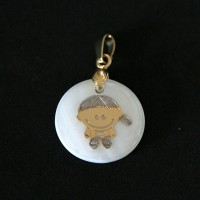 Semi pendant Jewelry Gold Plated Pearl Mother Mother Son of Love