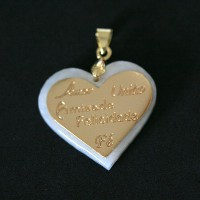 Semi pendant Jewelry Gold Plated Pearl Mother Love Togetherness Friendship Happiness Faith
