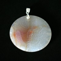 Pendant Silver 925 with Agate Natural Stone White