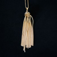 Semi Jewelry Necklace Gold Plated Pendant with 70cm Venetian