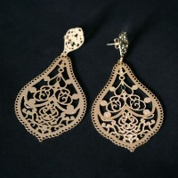 Semi Earring Gold Plated Jewelry