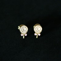 Earring Gold Plated Jewelry Semi Lollipop