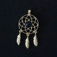 Pendant Semi Jewelry Gold Plated Dream Filter with Natural Stone Star
