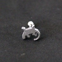 Piercing Tragus Surgical Steel 316L Lizard 1,2mm x 6mm