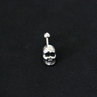 Piercing Tragus Surgical Steel 316L Skull 1.2mm x 6mm